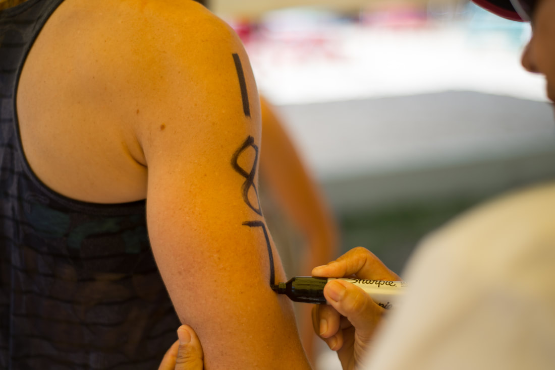 Numbering at Barbados Open Water Festival