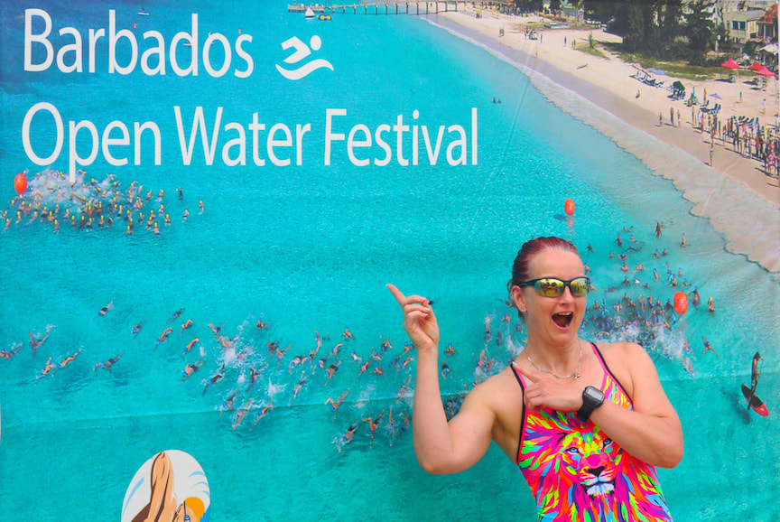 Happy to be at Barbados Open Water Festival